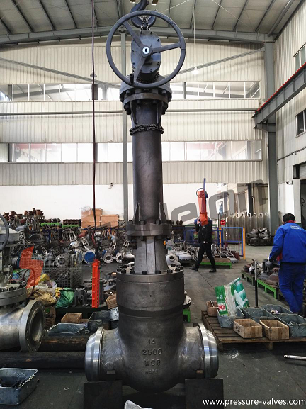 High pressure 2500LB BW ends gate valve